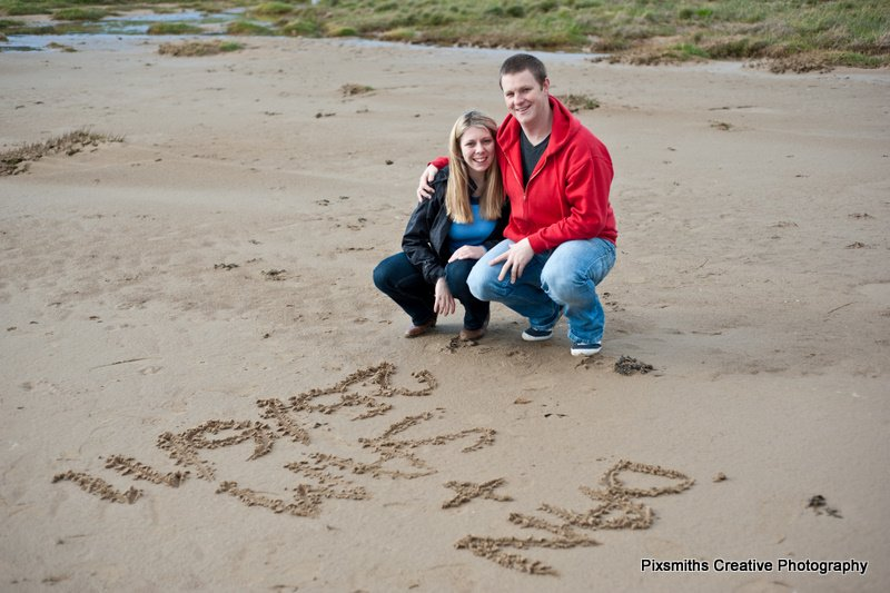 Dan and Sam Pre-Wed West Kirby Board Walk