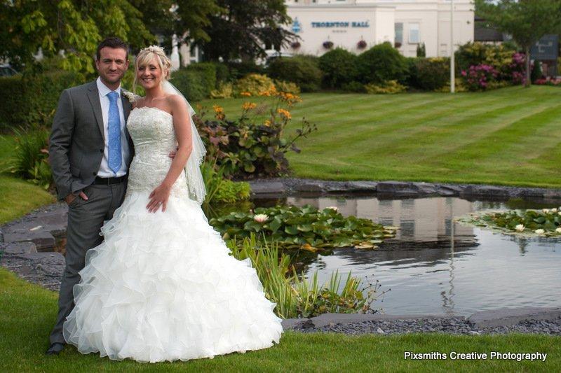 Leanne and Steve Wirral Wedding Thornton Hall Hotel