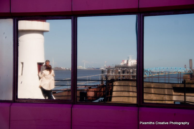 Aimee and Ben Pre Wed Woodside Ferry