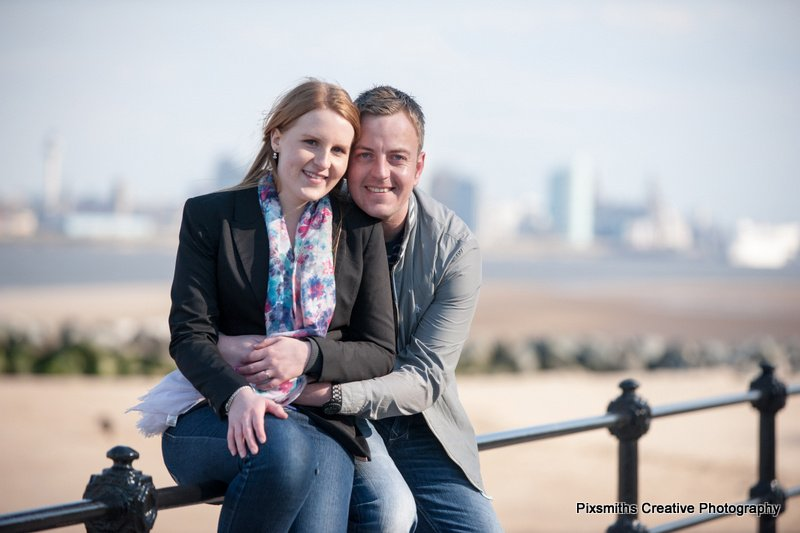 Laura and Rob Engagement Shoot New Brighton