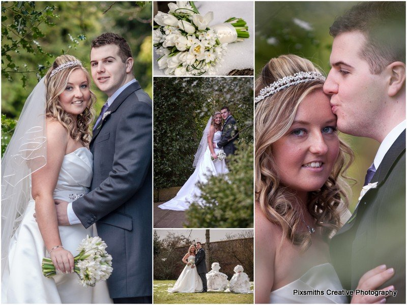 Rowton Hall Hotel wedding portraits