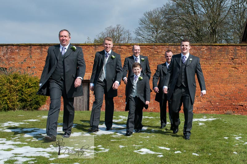 Grooms men Rowton Hall wedding