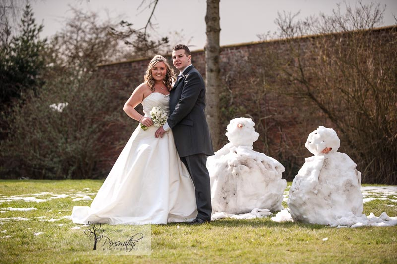 Rowton Hall Bride and Groom