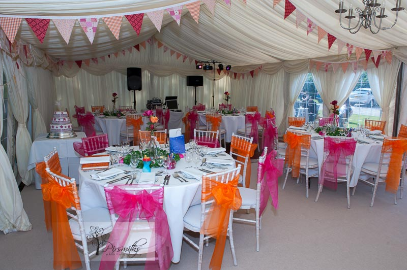 Peel Hey wedding marquee set up