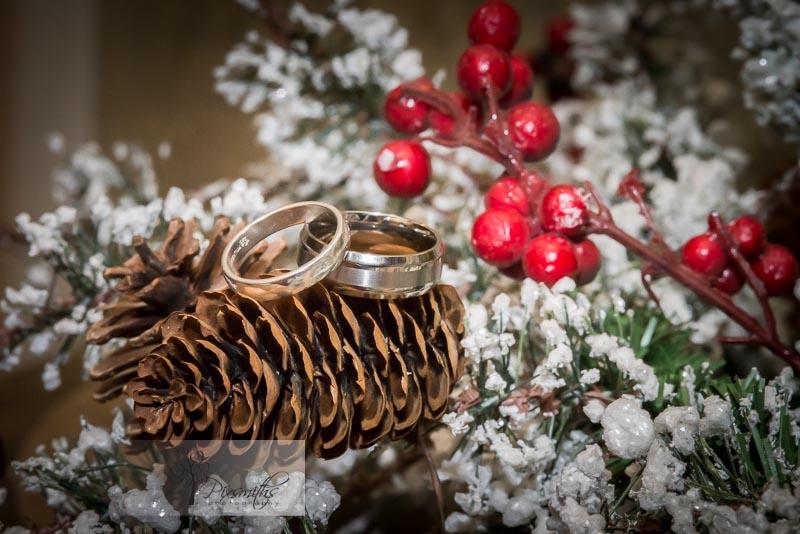 Christmas wedding rings