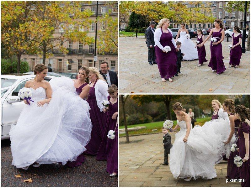 Bride arrival Birkenhead Town Hall Pixsmiths