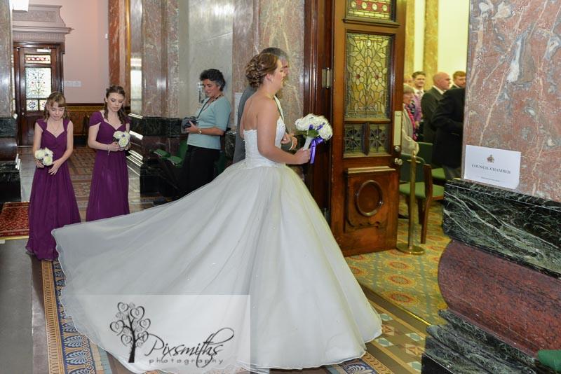 entry to wedding Birkenhead Town Hall