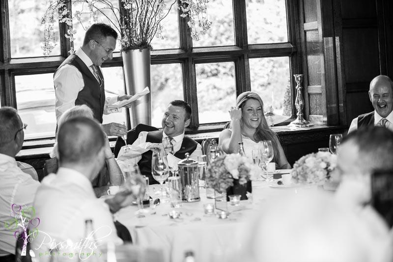 wedding speeches reaction Hillbark Hotel