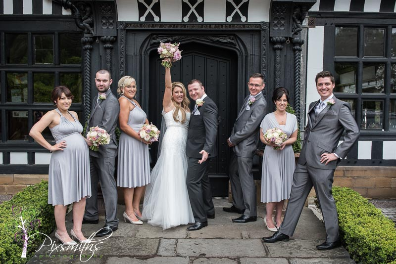 bridal party portrait Hillbark wedding photography