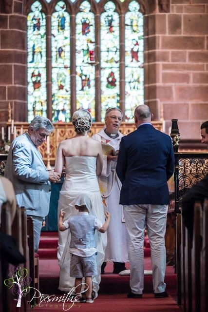 ceremony St Bridget's West Kirby