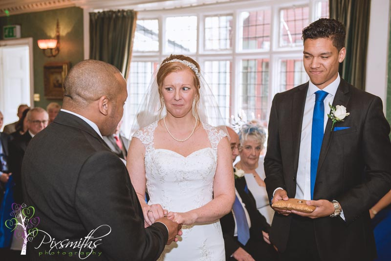 Brook Meadow Hotel wedding ceremony