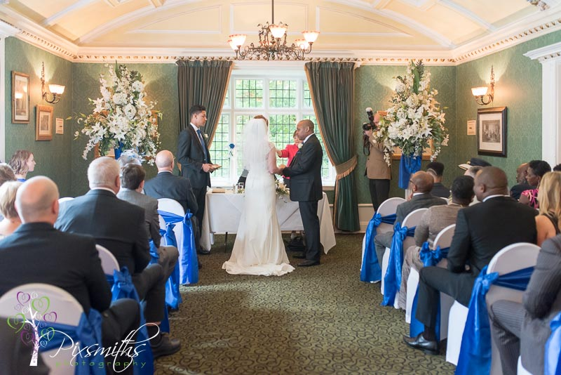 Brook Meadow Hotel wedding ceremony