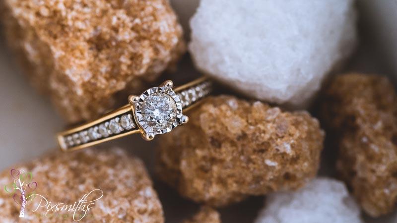 engagement ring macro shot