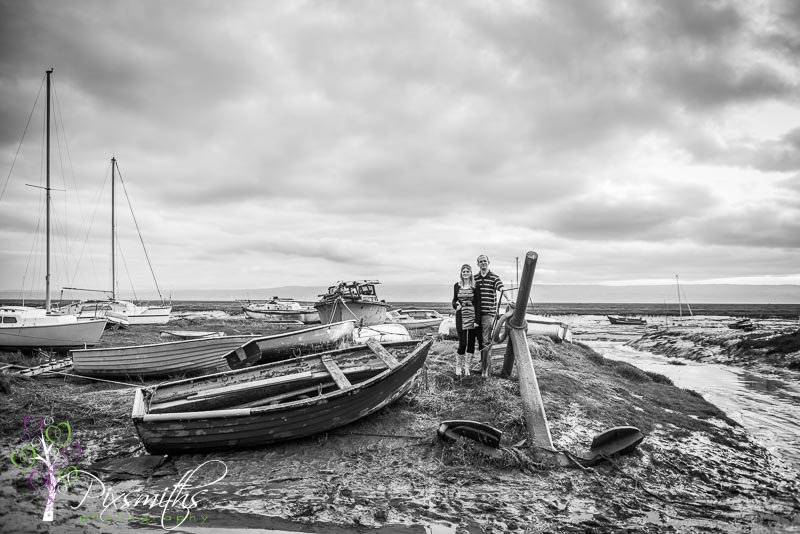 Sheldrakes boat yard and Dee Estuary