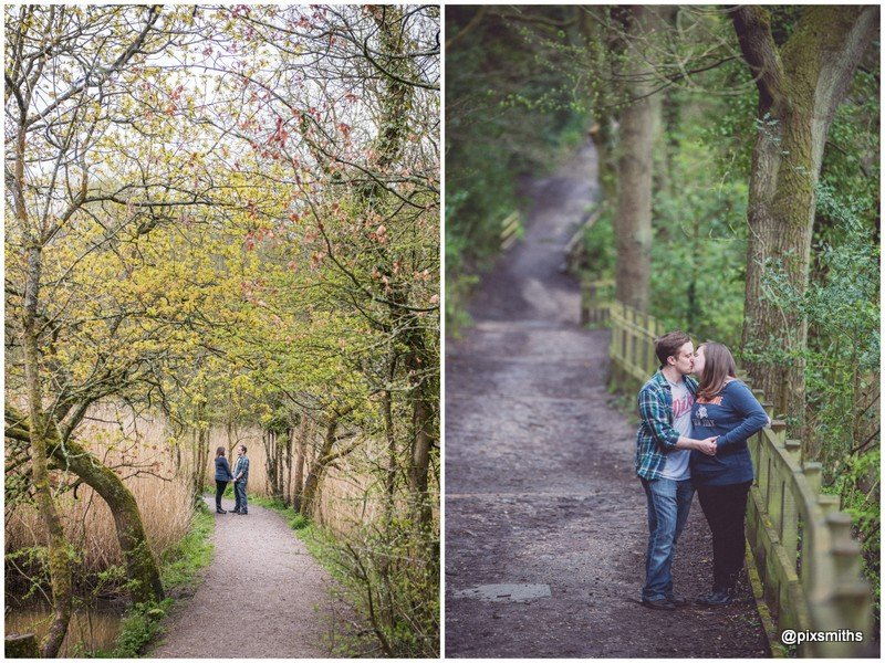 relaxed engagement shoot Brotherton Park
