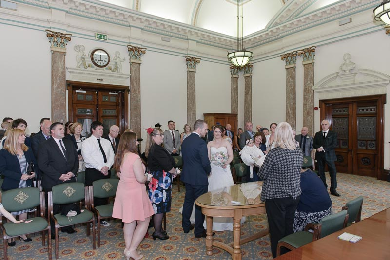 Birkenhead Town Hall ceremony