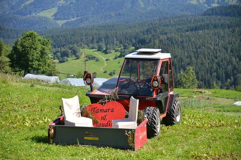 farm wedding transport