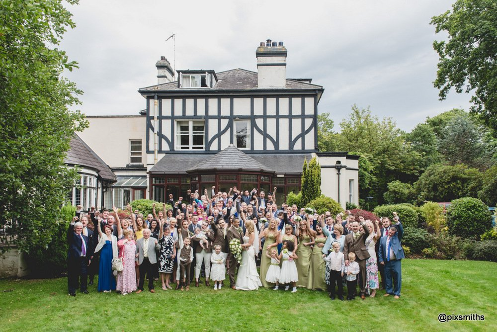group photo Brook Hall wedding photography