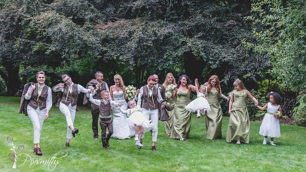 wedding Bridal party at Brook Hall