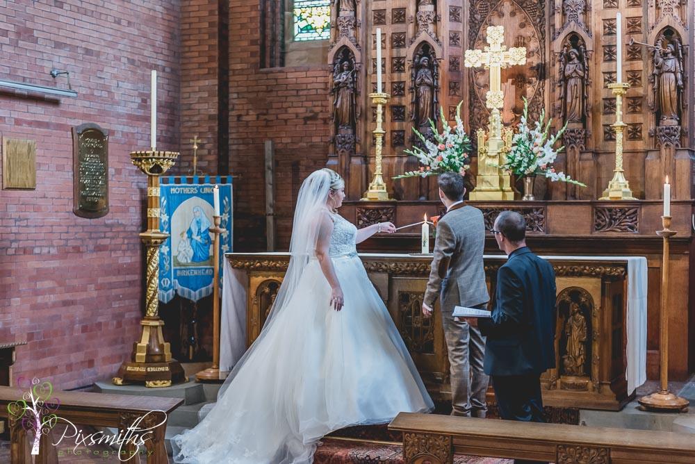 weddign ceremony St Stephens Prenton