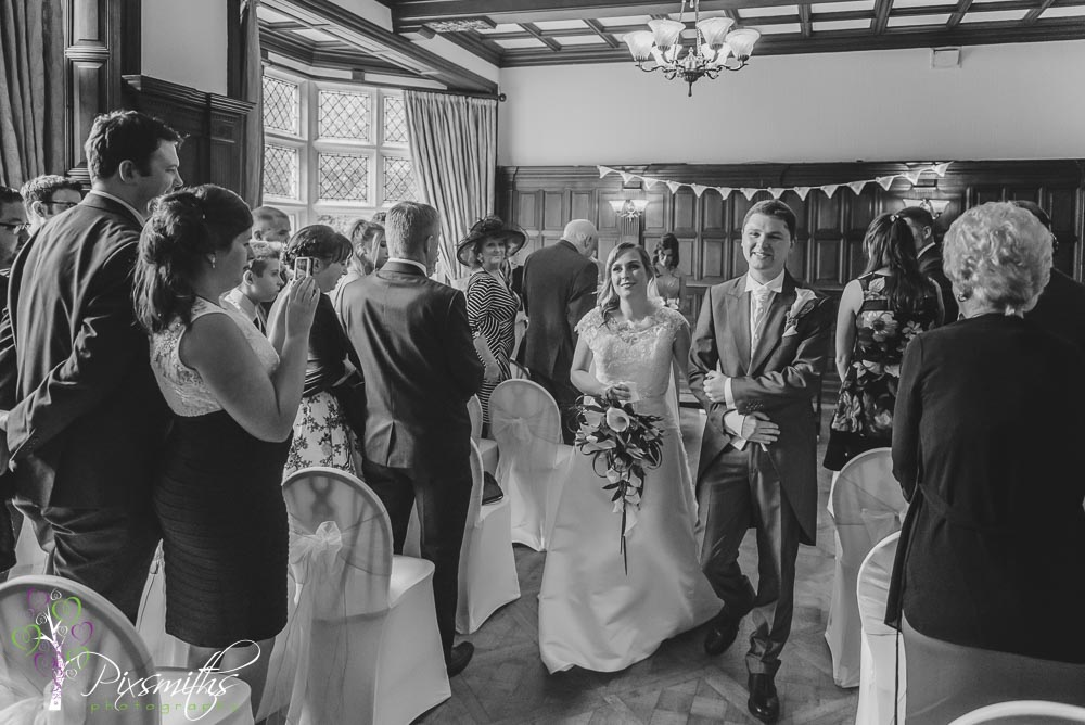 happy exit after Chester zoo wedding ceremony