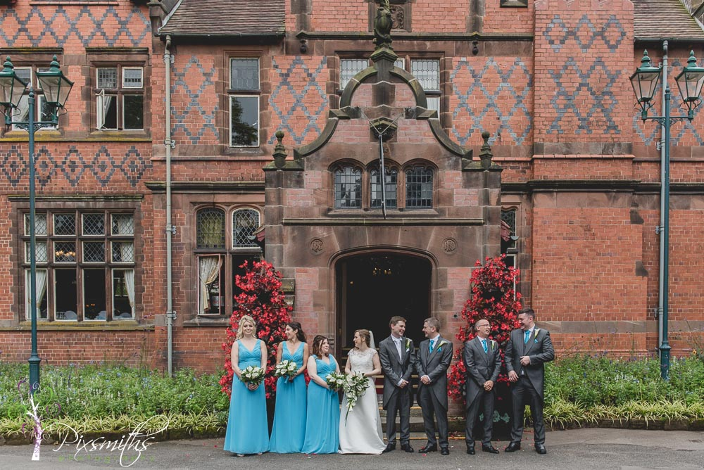bridal party shot Chester Zoo wedding photography