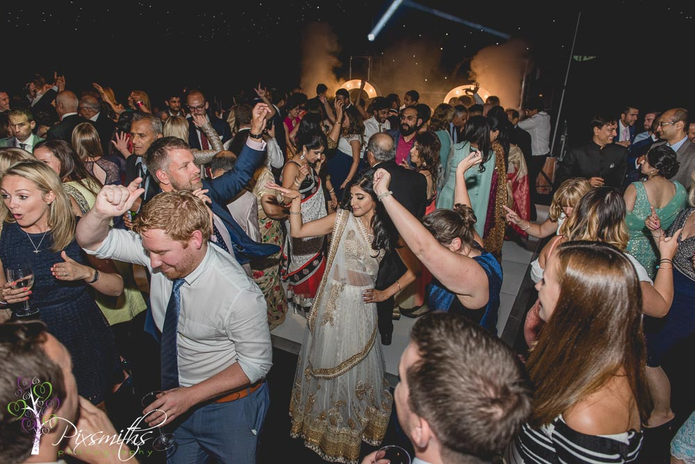 busy dance floor Asain wedding Thornton Manor