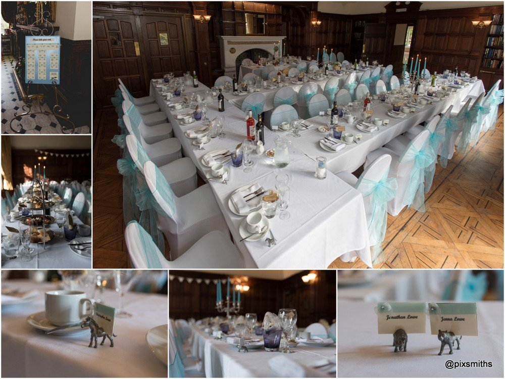 afternoon tea set up for a Chester Zoo wedding Oakfield Manor