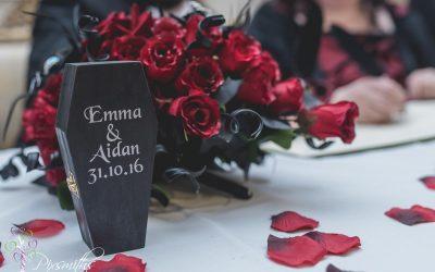 Gothic Halloween Wedding Leasowe Castle: Emma & Aidan