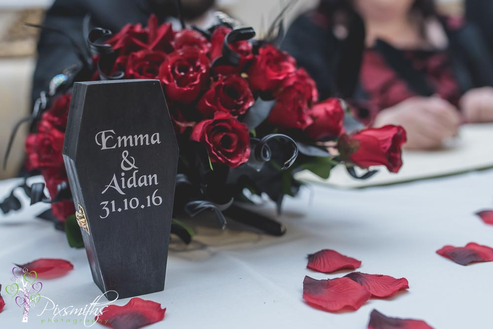 Gothic Halloween Wedding Leasowe Castle: Emma & Aidan