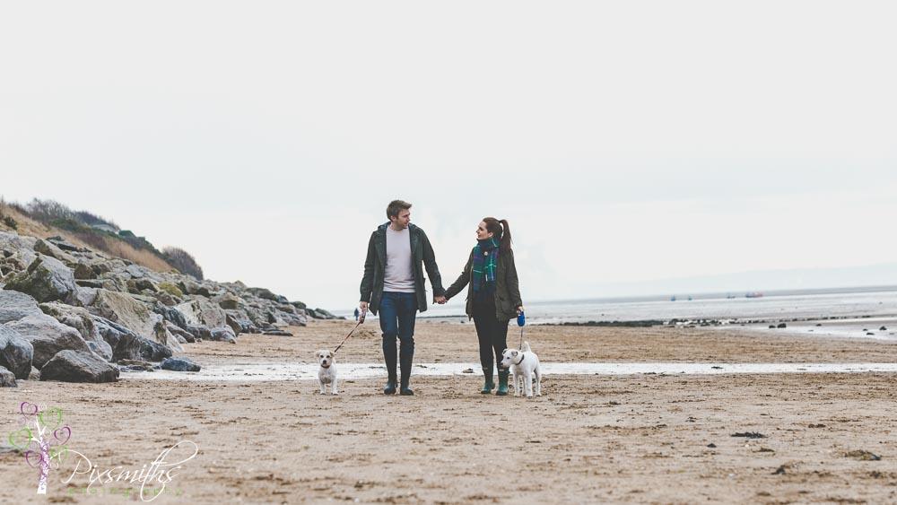 Caldy beach, engagement shoot, pixsmiths, beach engagement sesssion