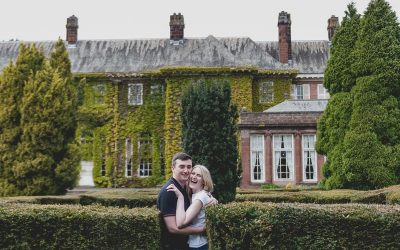 Garden Engagement Shoot Burton Manor : Natasha and Alex