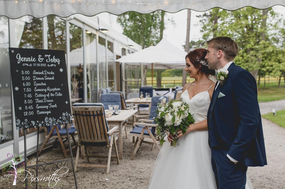Thornton Manor Waterside Pavilion wedding reception