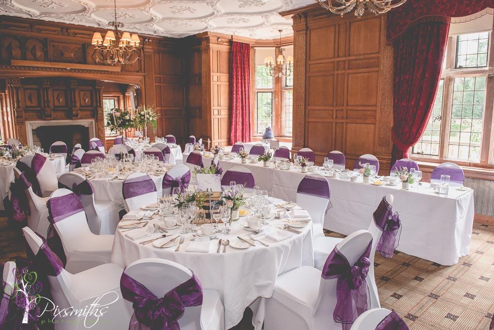 weddign reception set up at Inglewood Manor wedding photography Cheshire wedding