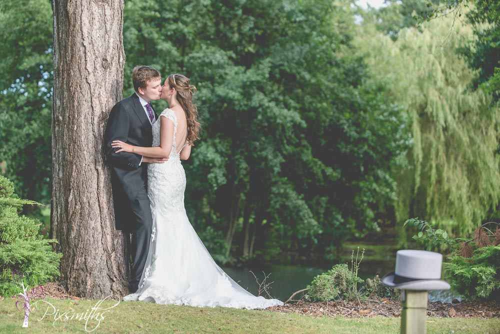 Gorgeous Inglewood Manor wedding bride and groom portrait