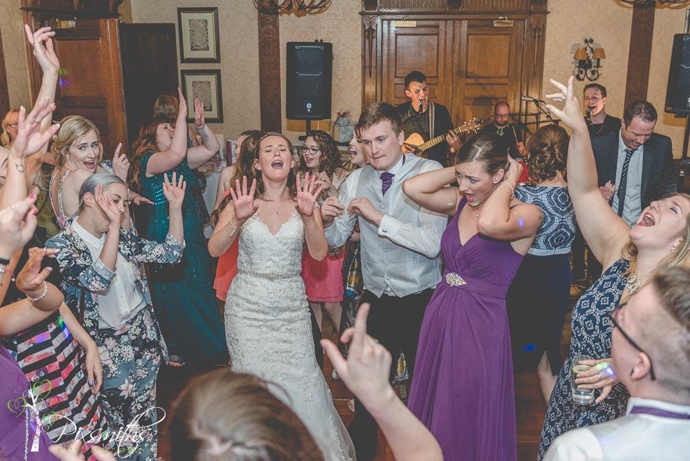 Inglewood Manor Wedding Photographer evening reception dancing fun