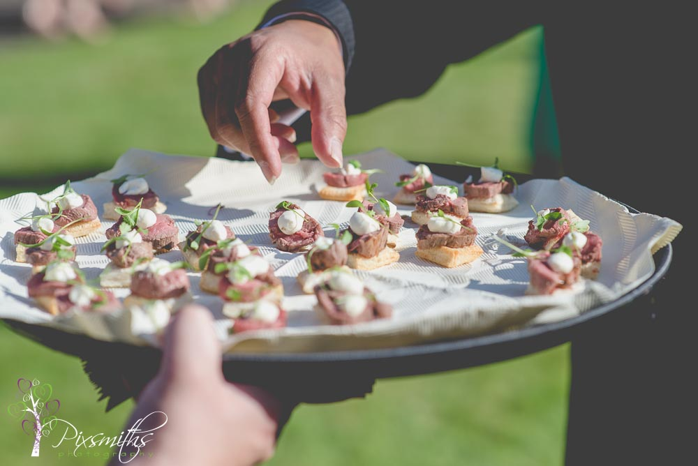 heekychilli canapes Cheshire marquee wedding