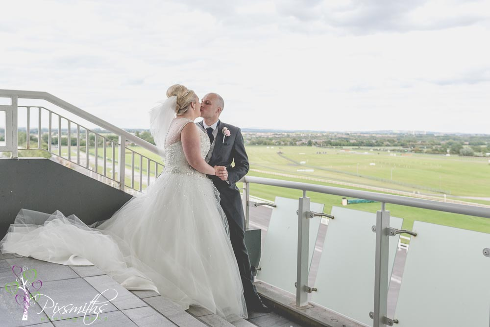 wedding at Aintree Racecourse