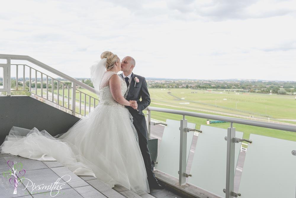 wedding at Aintree Racecourse