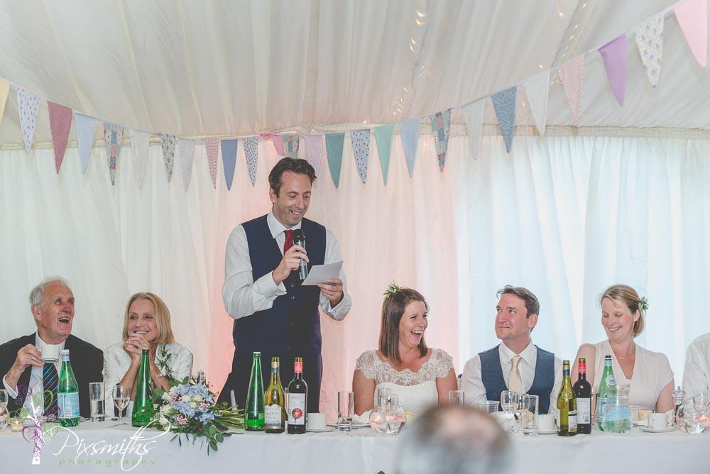groom speech Cheshire marquee wedding