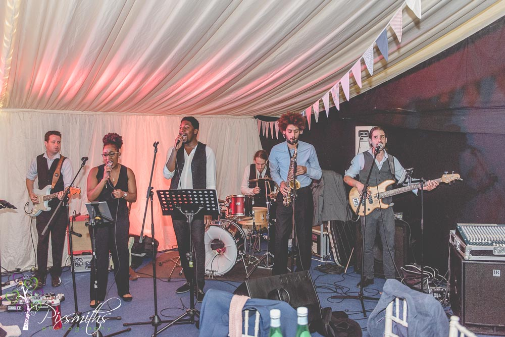 Motwon Magic music band Cheshire marquee wedding