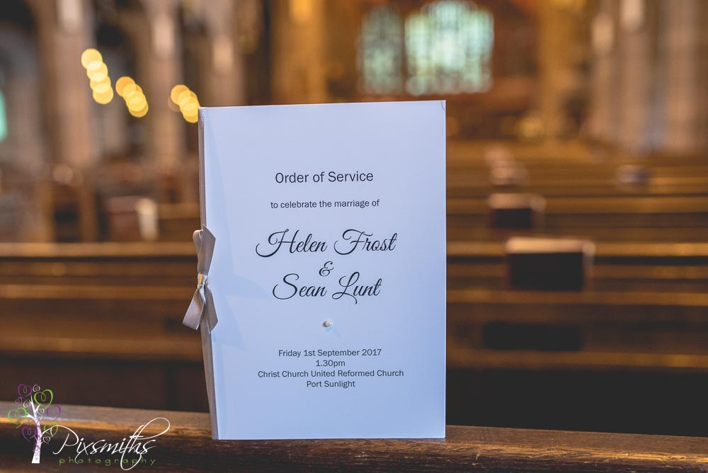 elegant order of service from Devlin Designs