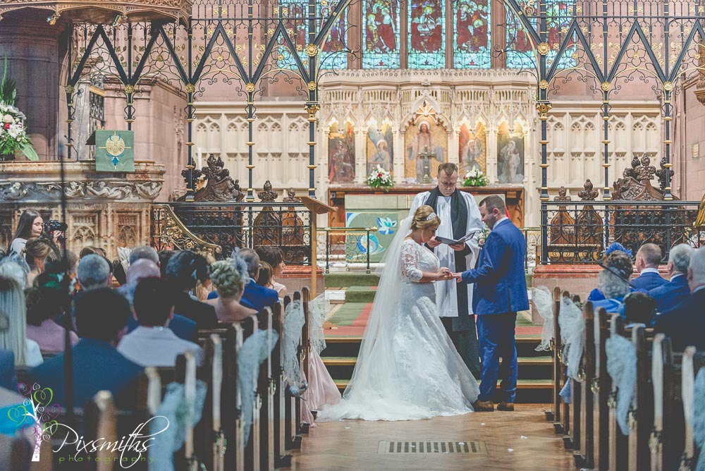 vows St Peter's Woolton Liverpool wedding photography
