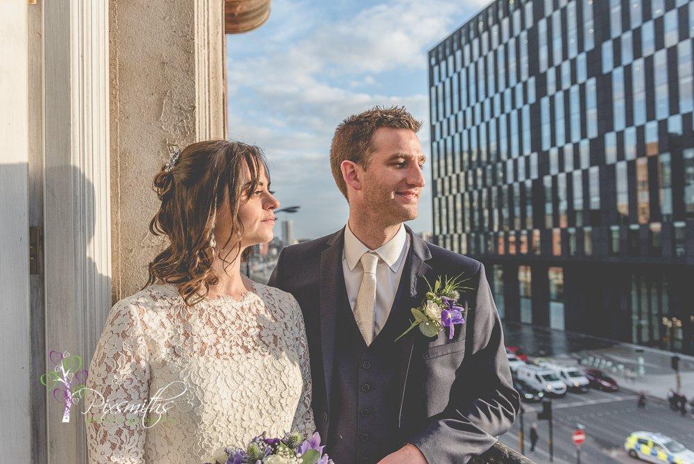 30 James St Liverpool wedding balcony shot
