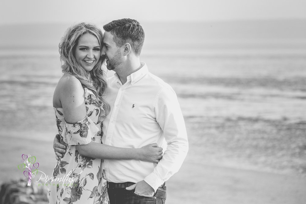 Caldy beach engagement shoot