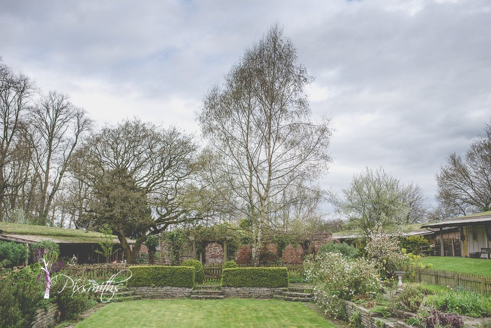 sunken gardens Trafford Hall