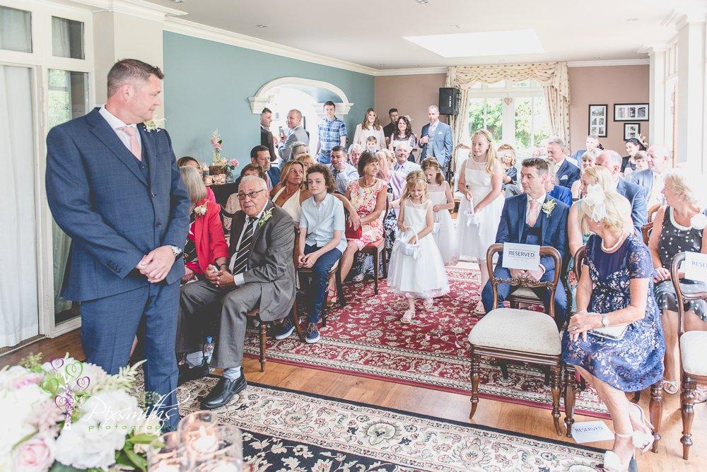 flower girls entrance for Mere Brook House wedding