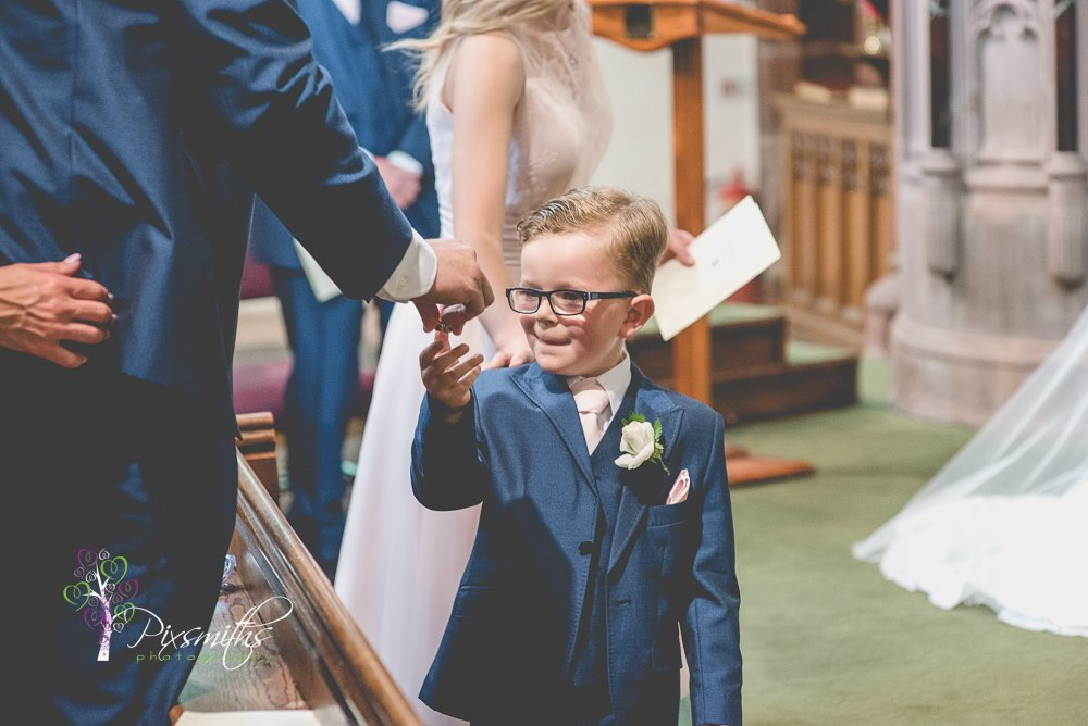 important ring bearer St Peter's Church Lower Heswall