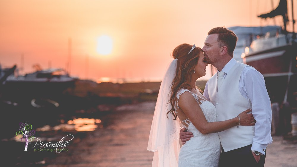 sunset moment - Sheldrakes Wedding photographer
