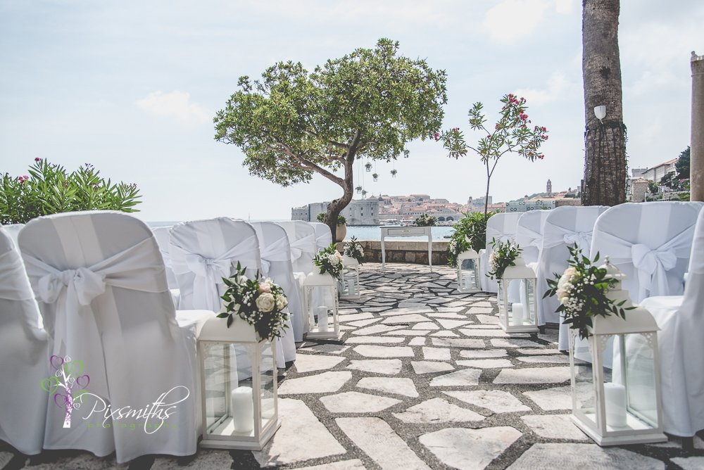 Dubrovnik wedding Hotel Excelssior ceremony location